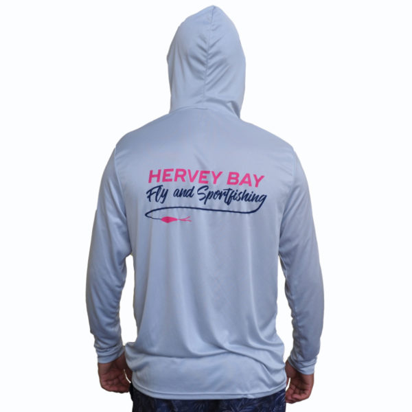 hervey bay fly and sportfishing performance hoodie CAST back