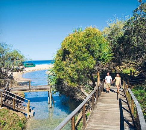 stay and explore fraser island