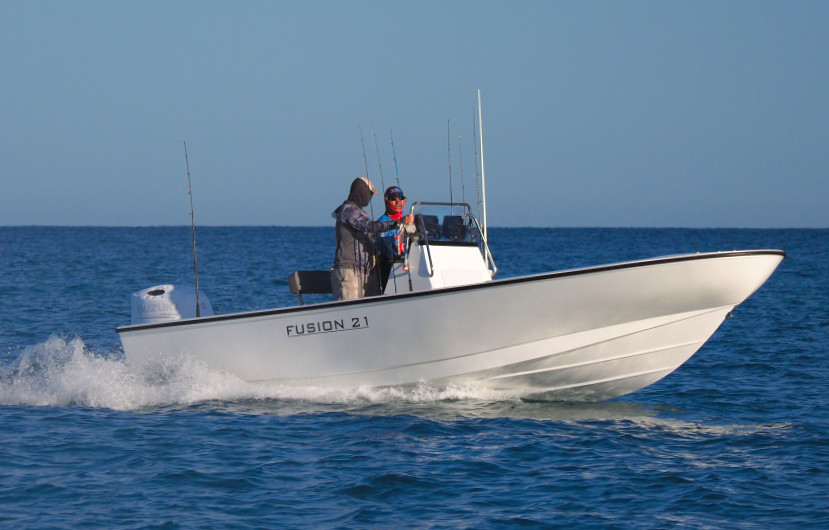 Our Vessels - Fusion centre console boat for fishing charters hervey bay