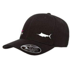 Black Marlin Flexfit Tech cap - Hervey Bay Sportfishing merchandise - fishing gear